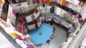 Textile Mall / Indoor Bazaar stock video