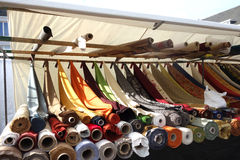 Textile market Royalty Free Stock Photography