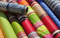 Textile in the market Royalty Free Stock Image