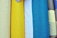 Textile in the market Royalty Free Stock Photography