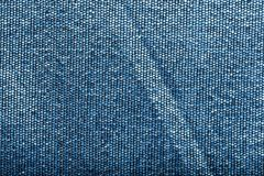 Blue threads tissue macro close up. Textile materials details, blue threads tissue detail macro close up Royalty Free Stock Photo