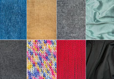 Textile materials Royalty Free Stock Image