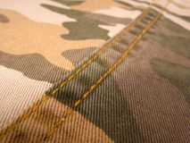 Textile military texture sample Stock Images