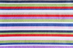Multicolored stripes fabric Royalty Free Stock Photos