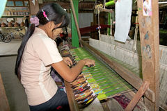 Textile Myanmar Royalty Free Stock Images