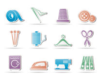 Textile objects and industry icons -  icon Royalty Free Stock Photo