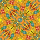 Textile ornamental decor. Floral print, seamless background   ornamental decor Stock Images