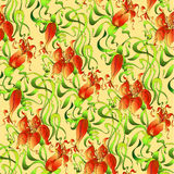 Textile ornamental decor. Sweet classic floral print, seamless background Stock Photography