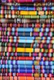 Textile péruvien Photographie stock