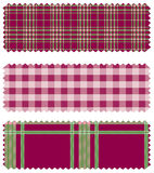 Textile patch. A illustration of textile sample Royalty Free Stock Photography