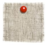 Textile Patch With Red Clip Royalty Free Stock Images