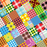 Textile patchwork square Stock Photography