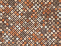 Textile pattern. A piece of floor carpet Royalty Free Stock Photo