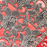 Textile pattern. Close up of a floral pattern as a background Royalty Free Stock Images