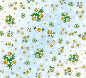 Textile pattern of Daffodils Stock Photo