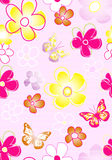 Textile Pattern-Floral Stock Photos