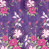 Textile pattern with floral ornament background Royalty Free Stock Photo
