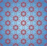 Textile pattern Molecular red star Stock Image