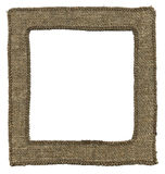 Textile photo frame Royalty Free Stock Photo