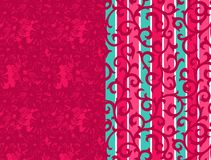 Textile print border design. Textile print design royalty free illustration