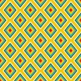 Textile print bright rhombuses repeat vector pattern. Royalty Free Stock Photos