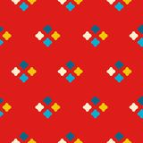 Textile print bright rhombuses repeat vector pattern. Royalty Free Stock Photo