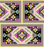Textile print colorful scarf design Royalty Free Stock Image