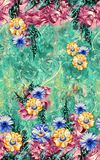 Beautiful colorful background and flower design royalty free illustration