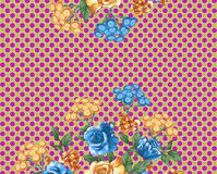Beautiful colorful background and flower design. Textile print design Royalty Free Stock Photography