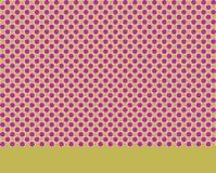 Dot pattern with plain border. Textile print design Royalty Free Stock Image