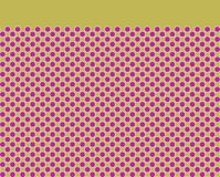 Dot pattern with plain border. Textile print design Royalty Free Stock Images
