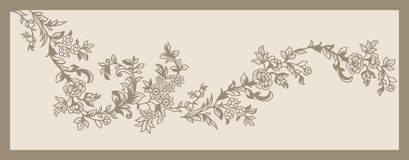 Textile Print Mughal Flower Illustration and Plant vintage manual artwork Digitally enhanced. With Adobe Photoshop CC+ 2019 royalty free illustration