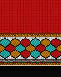 Textile print scarf border design stock illustration