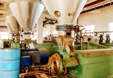 Textile production line Royalty Free Stock Photography