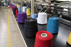 Textile Production - Weaving Royalty Free Stock Photos