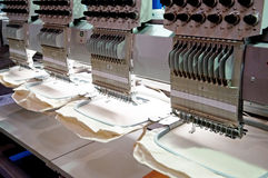 Textile - Professional and industrial embroidery machine Stock Photography