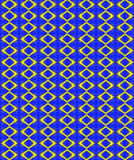 Textile repeated pattern and texture in golden hues. Abstract design and repeated pattern in golden and blue hues. Geometric shapes. Abstract design Stock Photography