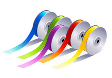 Textile ribbons Stock Images