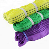 Textile round sling. For lifting load Stock Photos