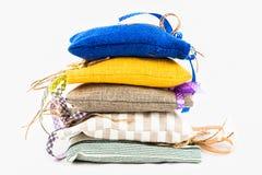 Textile sachet pouches Stock Image
