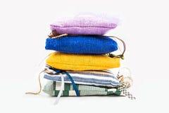 Textile sachet pouches Royalty Free Stock Photos