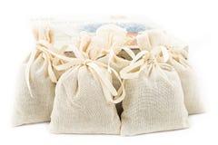 Textile sachet pouches Royalty Free Stock Photography