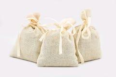 Textile sachet pouches Royalty Free Stock Images