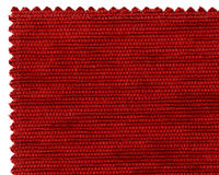 Textile sample. Image of red cloth sample stock photos