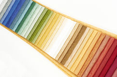 Textile samples all colours Royalty Free Stock Photography