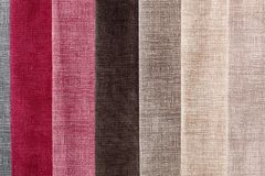 Textile samples background in your admirable tones. stock photos