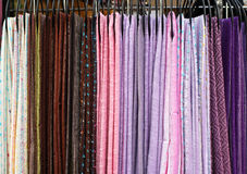 Textile scarves Royalty Free Stock Images