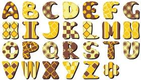Textile scrapbook alphabet on white Stock Photo