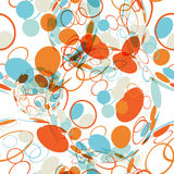Textile seamless pattern of balls with texture circles Royalty Free Stock Image
