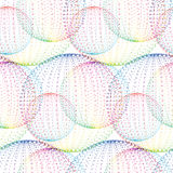 Textile seamless pattern of balls with texture milticolor dots Stock Photo